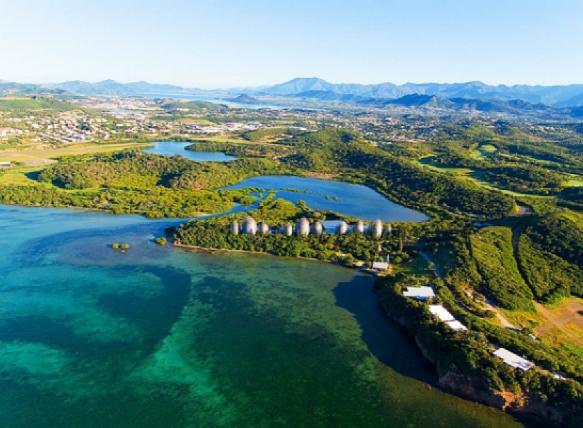 Nouméa, la capitale de Nouvelle-Calédonie et le centre culturel Tjibaou