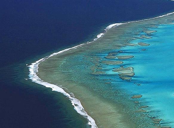 Le grand récif barrière de Nouvelle-Calédonie